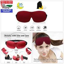Adjustable 3D Mask Sleeping Dark Mask Plugs Unisex Comfy Soft Naps Trave... - $4.15
