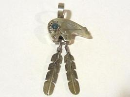 Vintage Native American sterling silver Turquoise pendant - $70.00