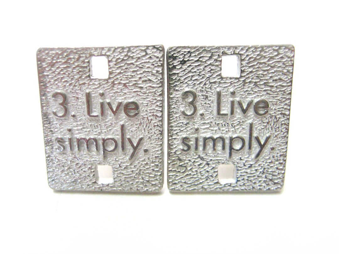Rules for Happiness Cufflinks: Live Simply