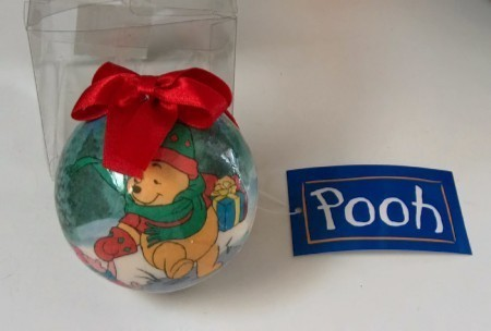 Winnie Pooh Christmas Ball Ornament