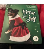 New! Time for Joy Mrs. Claus Dog Christmas Dress Size XS - $12.34
