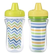 The First Years 2 Piece Insulated Hard Spout Cup, White/Green/Blue/Orang... - $12.86
