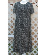 10 Talbots Black White Mini Floral Print Dress ... - $14.99