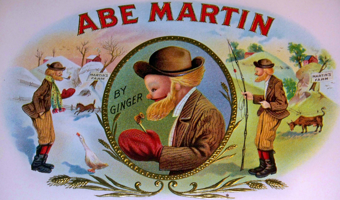Abe martin cigar label 002