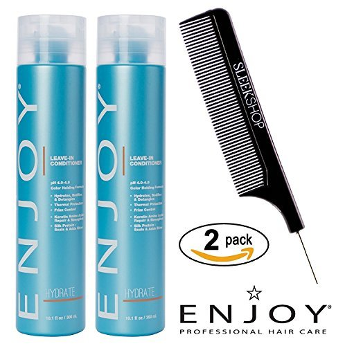 Enjoy LEAVE-IN Conditioner, ph 4.0-4.5, Color Holding Formula, HYDATE (with Slee