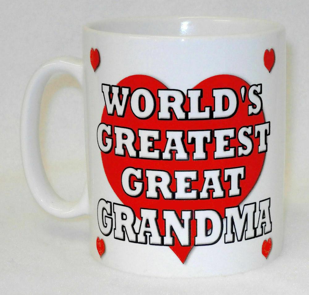 World's Greatest Great Grandma Mug Can Personalise Gran Granny Nan Birthday Gift