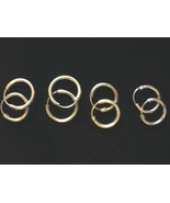 Sterling SIlver Thick Medium Hoop Earrings - $5.00