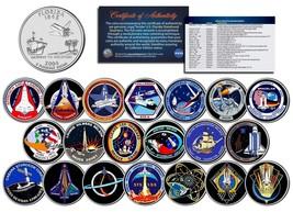 SPACE SHUTTLE PROGRAM MAJOR EVENTS Colorized FL Quarters U.S. 20-Coin Se... - $46.71