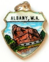 Albany W. Australia Dog Rock Enamel Travel Shie... - $27.31