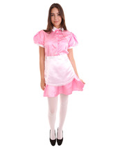 Adult Women's French Apron Maid Uniform Costume | Light Pink Cosplay Cos... - $37.85
