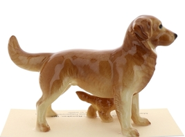 Hagen-Renaker Miniature Ceramic Dog Figurine Golden Retriever Papa and Pup image 3