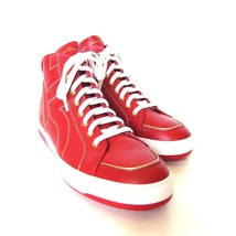 W-2106218 New Salvatore Ferragamo Nicky Red Leather HiTop Sneaker Size 1... - $456.58 CAD