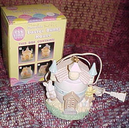 Egg Time Easter Bunny House-Porcelain Church;Lighted;Includes 7½ watt bulb;Boxe