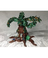 Tree Ancient Forest Sculpture Handmade Polymer Clay Embellished Table De... - $125.00