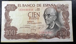 SPAIN: 1970, 100 Cien Pesetas, P-152 ** XF **  España ◢ FREE COMBINED S/H ◣ - $2.29