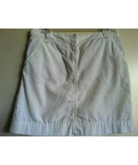 J. CREW white corduroy skirt jean style 2 front pockets, 2 back pockets ... - $39.99