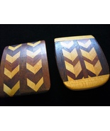 Hand Crafted Wood Inlaid Belt Buckle - $15.00