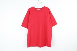 Vintage 90s Streetwear Mens XL Boxy Fit Blank Short Sleeve T Shirt Red USA - $29.65