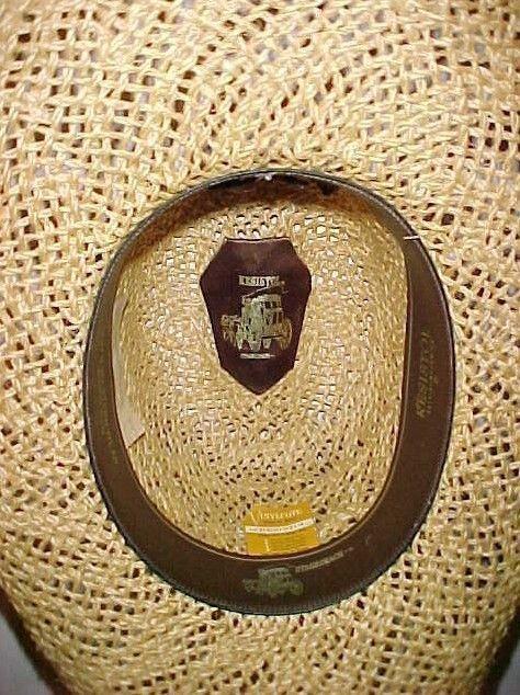 Resistol Stagecoach Vinylcote Straw Western Cowboy Hat Don's Western Wear 7 1/4