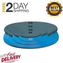Intex Easy Setup Durable Round Swimming Pool Cover Fits 8 10 15 Feet Lig... - $16.32+