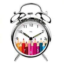 PANDA SUPERSTORE Alarm Clock Practical Mute Alarm Clock Luminous Light Utility S