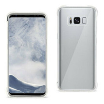 New Reiko Samsung Galaxy S8 Clear Bumper Case With Air Cushion Protectio... - $14.29