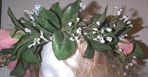RENAISSANCE LARGE PINK ROSE FLOWER  CIRCLET HEADDRESS H