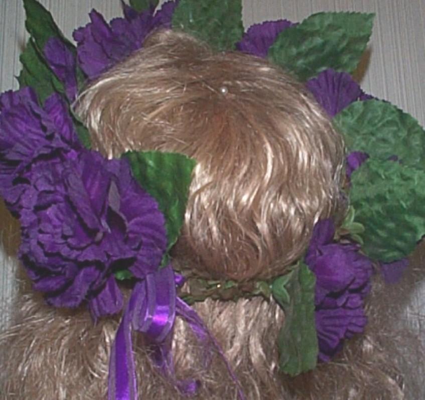 RENAISSANCE DARK PURPLE FLOWER  CIRCLET HEADDRESS HAT