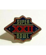 VTG NFL Collectible Pin Super Bowl XXII Silver Tone Metal Enameled Lapel... - $13.81