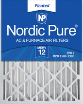 Nordic Pure 20x25x4 (3 5/8) Pleated MERV 12 Air Filter 1 Pack - $24.28