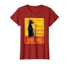 Funny Doberman Pinscher Cute Dog Mashup Art Novelty T-Shirt - $19.99+
