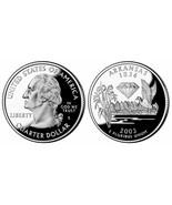 2003 Arkansas Clad Proof Quarter from US Mint Proof set slight toning CP... - £1.79 GBP