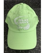 Bud Light Lime Hat Green Stitched Adjustable Baseball Cap Budweiser NEW!! - $14.85