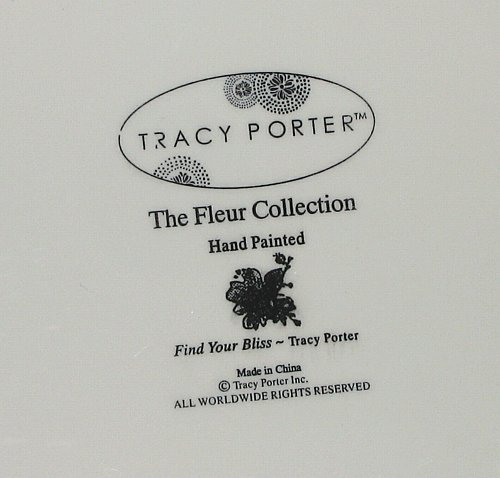 Tracy Porter Fleur Collection Footed Ribbon Shaped Tray