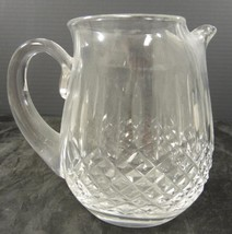 Signed Waterford Lismore Pattern Pinched Spout Pitcher - $31.91