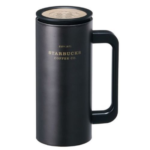 Starbucks Korea SS Black Heritage Newton Cold Cup Tumbler, Tall 12oz (355ml)