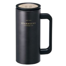 Starbucks Korea SS Black Heritage Newton Cold Cup Tumbler, Tall 12oz (355ml) image 1