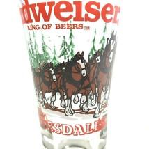 Vintage 1989 Budweiser Clydesdale Pilsner Glass Man Cave Bar - $8.00