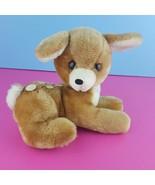 "Vintage Dakin Deer Fawn Bambi Plush 7"" Laying Down Stuffed Animal 1977  - $20.79"