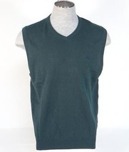 Chaps Green Cotton Knit Sweater Vest Mens NWT - $44.99