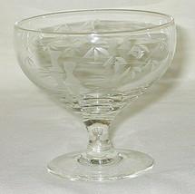 Noritake Crystal Bamboo Pattern Low Sherbet Glass Set of 4 - $19.75