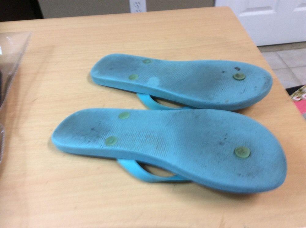 3fceeba04596e Vineyard Vines Sandal flip flops WHALE Blue Enamel Whale sz 8 Rubber