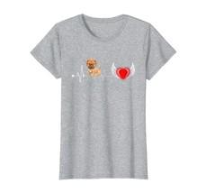 Dog Fashion - Boxer Dog Heartbeat Funny Dog Gift Tee Shirt Wowen - $19.95+