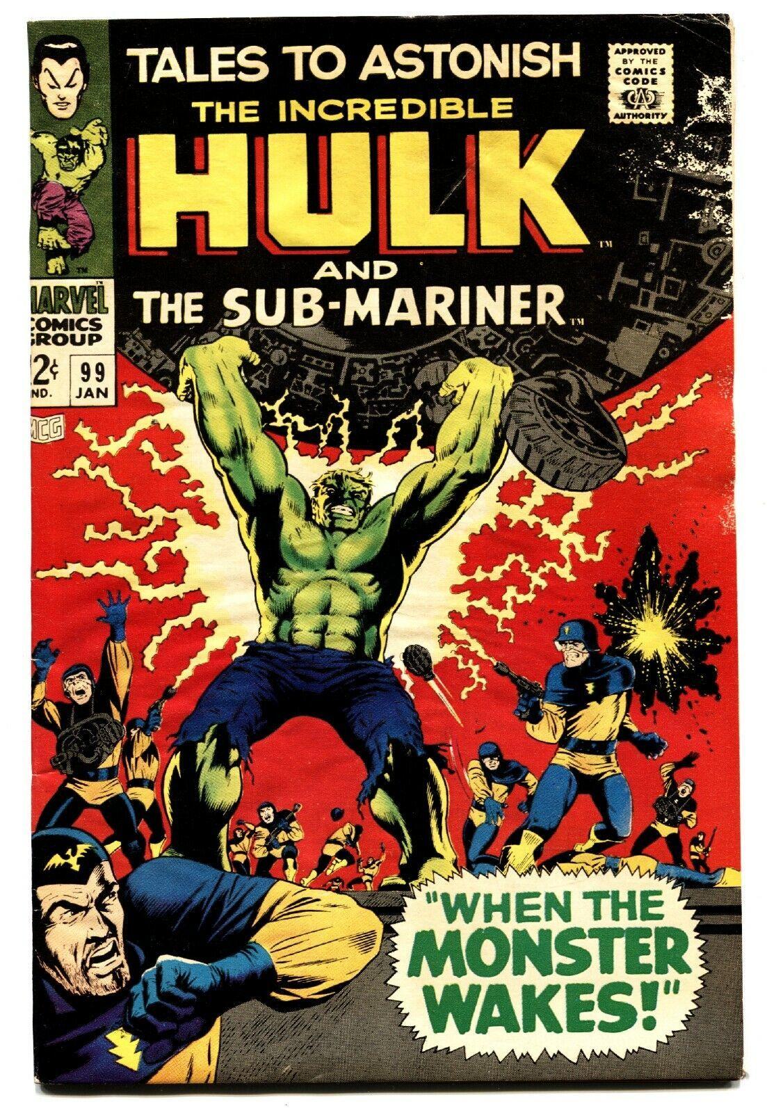 TALES TO ASTONISH #99 COMIC BOOK -HULK/SUB-MARINER-1967 G/VG - $16.39