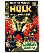 TALES TO ASTONISH #99 COMIC BOOK -HULK/SUB-MARINER-1967 G/VG - $16.39