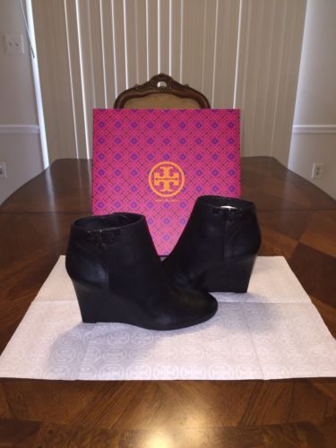 6cadda77a NIB Tory Burch Lowell Leather Wedge Bootie and 50 similar items