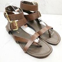 FRANCO SARTO Brown Leather Glinda Gladiator Sandals Shoes Size 7.5 Womens - $25.97