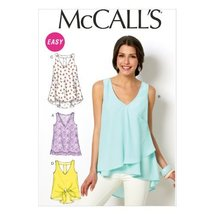 """McCall Pattern Company M6960 Misses' Tops and Tunics, Size Y """"XSM-SML-MED"""" - $14.21"""