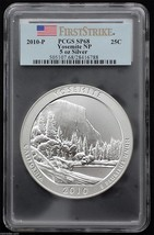 2010 PCGS First Strike Yosemite ATB NP 5 Ounce Silver Coin SP68 COA Lot BB 34