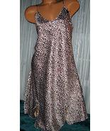 White Black Pink Leopard Chemise Short Gown 2X Plus Adjustable straps  - €11,55 EUR